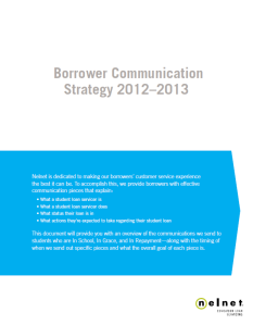 Borrower Communications Summary