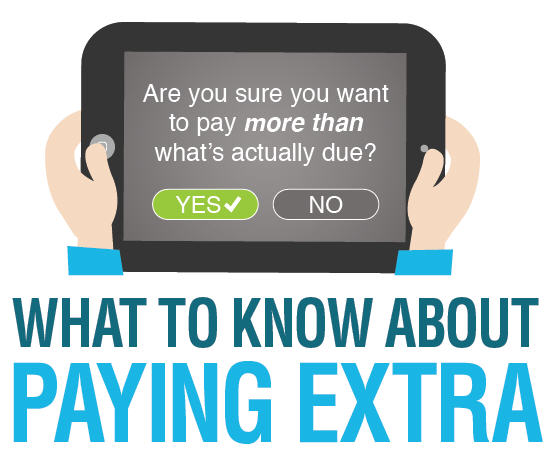 paying extra
