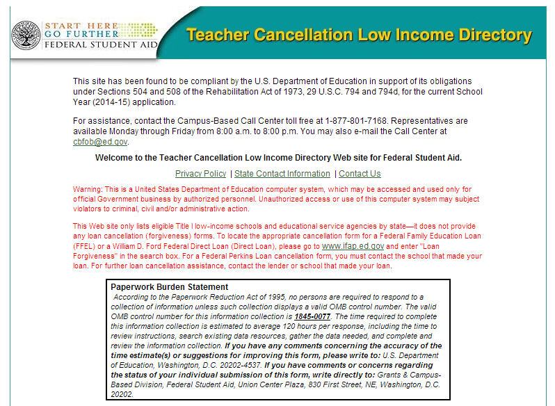Latest from FSA: Teacher Cancellation Low-Income Directory Updates ...