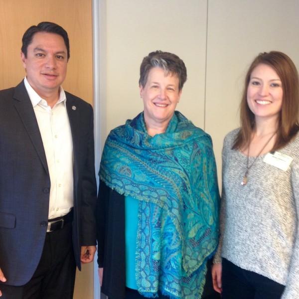 Lou Murray, Nelnet Regional Director, Joyce DeMoss, FSA Ombudsman, and Alyssa Cisneros, Customer Interaction Center Manager, at the Student Loan Ombudsman Caucus Meeting